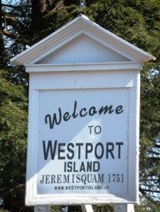 Welcome Sign to Westport Island