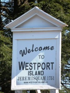 Welcome Sign to Westport Island