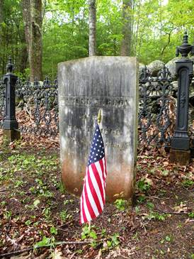 samuel targox gravesite with flag