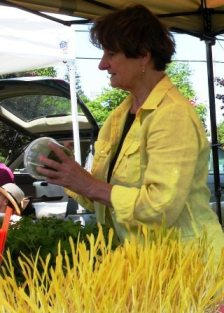 MicroMainea owner Judy Hughes at Boothbay Farmers Market