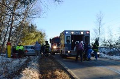 emergency vehicles on scene ferry and main roads