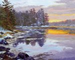 Painting of Back River Sunset