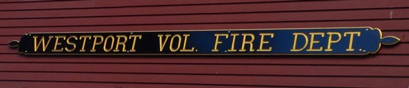 Westport Volunteer Fire Department sign