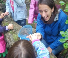Anne Stires engaging with students