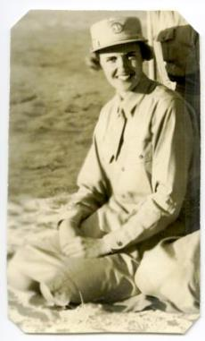 Private Vera in uniform, 1943