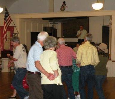 Square dancers at Westport Island Town Hall