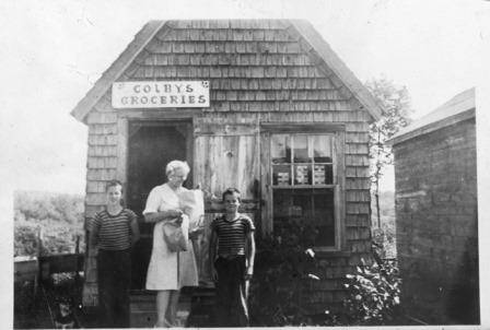 Colby's Groceries, probably in the 1950's, when it was operational
