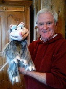 Burt Prater and his puppet, Roadkill