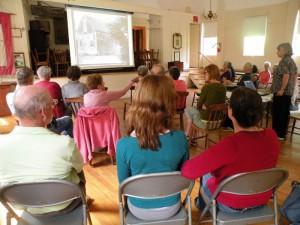 Mary Ellen Conducting History Program on Westport Island