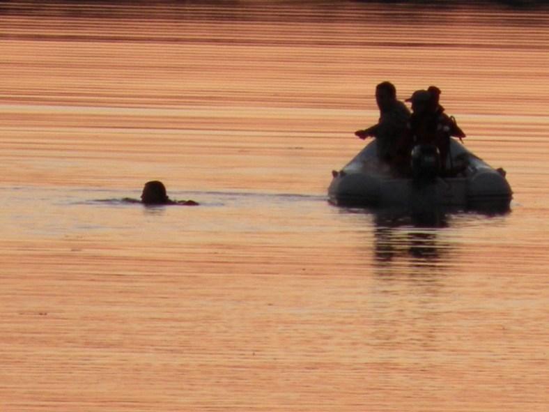 Westport Volunteer Fire rescue boat finds man in the water